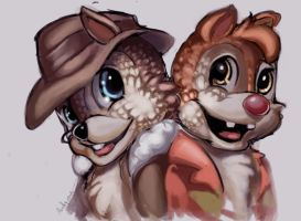 Chip n Dale by StitchParadox