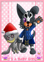 PKMNA - It's a Christmasy Baby Morgy! Such a brat! by Powerwing-Amber