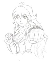 Yang's Ready to Brawl (RWBY) by AlphamusPrime