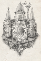 . Castle in pencil . by TheArta