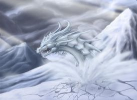Ice dragon by Tharalin