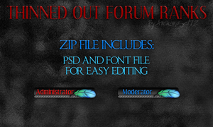 Thinned Out Forum Ranks 1.0 by bry5012
