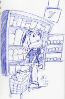 Amy Grocery shopping by spongefox