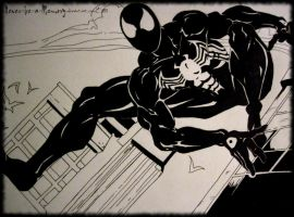Alien Suit Spiderman -Inked- by Never-be-a-Memory
