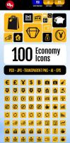 100 Economy Icons Pack by doghead