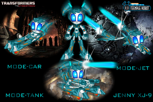 XJ-9  CYBERTRON  MODE VEHICLES by mayozilla