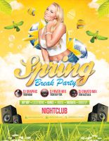Spring / Easter Party - Flyer Template by LouisTwelve-Design