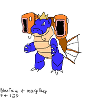 blastoise and magikarp combo by enigmatic-me