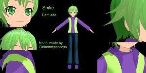 Spike MMD Model by GirlAnimePrincess