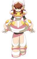 commission- reploid female by Nyaph