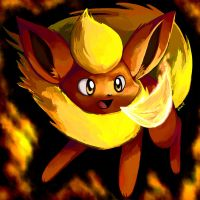 Fire-Breathing Eevee by Togechu