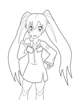 Miku Lineart by InLoveWithYaoi