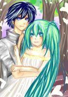 Kaito x Miku by TheFrozenDream