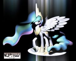 My Little Pony - Celestia Pose 01 by Vidal-Design