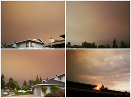Sky From The Santa Cruz Fires by storybox