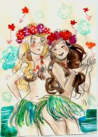 Hula Maddie and London by SonicPossible00