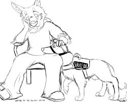Service Dog by TieWolf