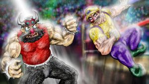 Booster Vs. Wario by Anagram-Daine