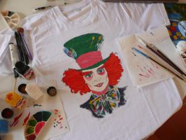 Mad Hatter t-shirt step 5 by DitaDiPolvere