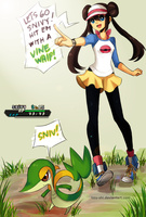 PKMN black2: A trainer and her Snivy! by Izzu-shi