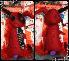 Creepy Kawaii Bunny Plushie by RedStar-Sama