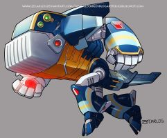 Megaman Tribute fan-duff mcwhale by zecarlos