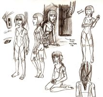 Portal - GLaDOS Sketchdump (v2) by Brainiac6Techgirl