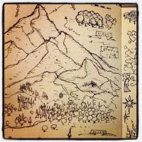 Fantasy Mountains from Notebook by billiambabble