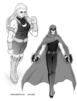 Rule 63 sketches by Los-Chainbird