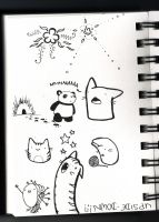 sketch book page by Lozzyboo