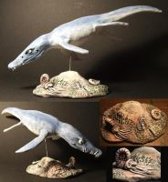 Pliosaur sculpture by hankinstein