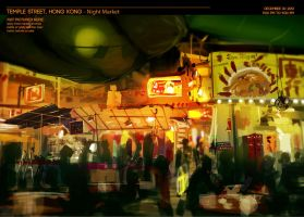 Hong Kong: Temple Street Night Market by rubendevela