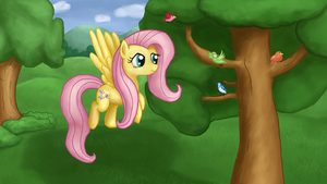Fluttershy collaboration by Tunskaa