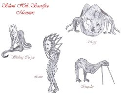 Silent Hill:Sacrifice monsters by Amazonne