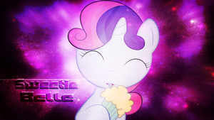 Sweetie Belle Wallpaper by Izeer