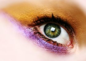 purple and gold eye by sayra