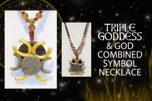 TRIPLE GODDESS AND GOD NECKLACE by SCT-GRAPHICS