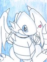 Blue Eyes White Dragon Baby by Evil-laughterdotcom