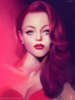 Rouge-Jessica Rabbit by Yannomi