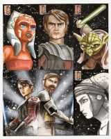 Clone Wars Sketch Card by AlexBuechel