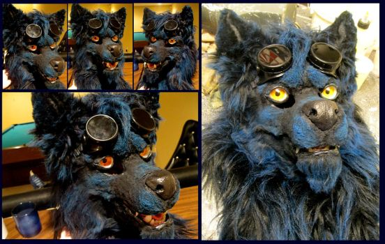 Razor Mask with goggles by Crystumes