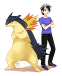 Blake and Typhlosion by meago