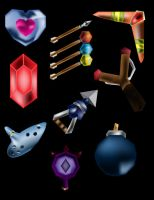 OoT Weapons plus 20 rupees FREE SYMBOL DOWNLOAD by water16dragon