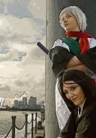 Toshiro and Rukia in London by surlycat