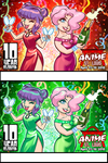 Anime St Louis 2015 Convention badges by kevinbolk