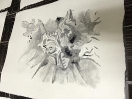 Ghost Print of Majora's Mask by hchibbles