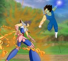 Ikki Vs Vegeta by alleckx