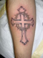 Cross with thorns by h8machineh8