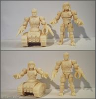 3D printed figures exchangeable parts by hauke3000