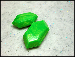 Green Rupee Figures by GrandmaThunderpants